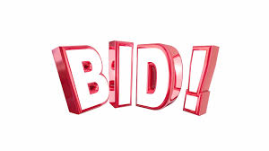 bid auction bid auction buy item product high price win word 3 d animation