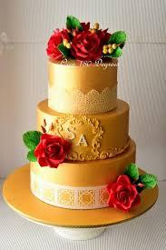 wedding cake daily 182 best gold cakes we images on cake wedding