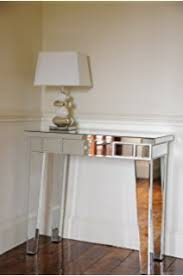 glass mirrored console table mirrored glass dressing table console table with one drawer and