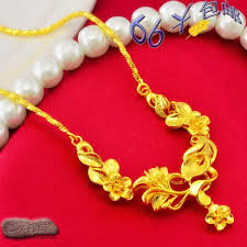 girl gold necklace images 24k gold plated gold chain flower girl jewelry imitation gold jpg