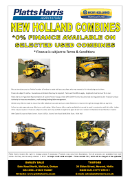 used machinery offers for sale platts harris