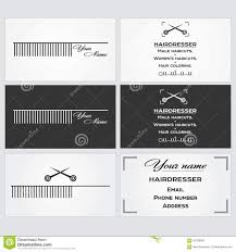 Email Business Card by Business Card Template For A Hairdresser Stock Vector Image