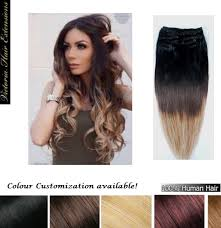 ombre hair extensions clip in in ombre remy human hair extensions