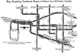 washington dc trolley map new 1936 streetcar map ghosts of dc