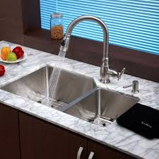 Bowl Kitchen Sinks Terraneg Within Fantastic Kitchen Faucet For - Triple sink kitchen