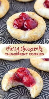 cherry cheesecake thumbprint cookies recipe dessert cookbooks