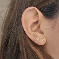 staple earrings whitaker staple studs at general store