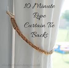 Curtain Holdback Ideas Best 25 Curtain Tie Backs Ideas On Pinterest Tie Backs For