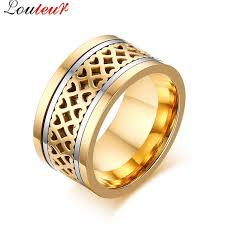aliexpress buy 2017 wedding band for men 316l aliexpress buy louleur 2017 new vintage gold color hollow