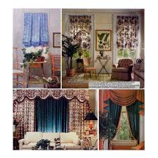 Sewing Patterns For Home Decor Window Treatments Sewing Pattern Curtains Swags Jabots Panels