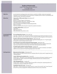 Special Education Teacher Resume Education Education Experience Resume