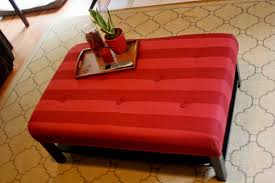 Upholstered Ottoman Coffee Table Hacking The Lack Into An Upholstered Ottoman Ikea Hackers