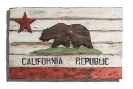 california wood weathered wood one of a california republic flag wooden