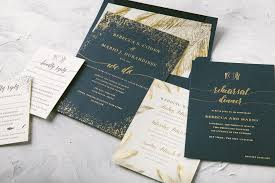 palm tree wedding invitations modern foil and palm tree wedding invitations figura