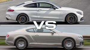 2017 bentley continental gt v8 2017 mercedes amg c63 s vs 2016 bentley continental gt speed youtube