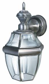 heath zenith sl 4166 sa motion activated six sided carriage light silver with beveled glass wall porch lights com