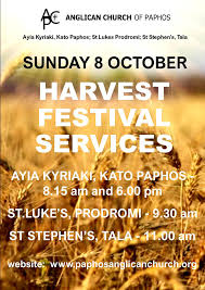 harvest thanksgiving services the anglican church of paphos