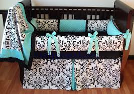 Pink And Teal Crib Bedding by Damask Crib Bedding Black And White All About Crib