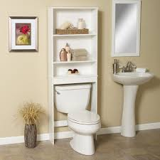 3 shelf above toilet storage design idea and contemporary