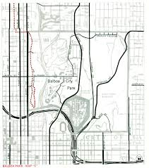Map Of Balboa Park San Diego by 1975 City Of San Diego Bikeways Map