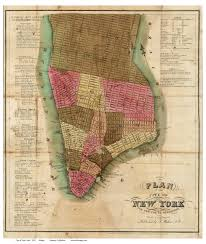 Map Of Manhattan Ny Old Maps Of Manhattan New York City