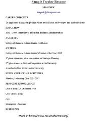 fresher resume objective sample free examples comparative essays