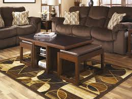 furniture wood and glass coffee table sets coffee table with stools