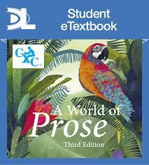 a world of prose student etextbook hodder education