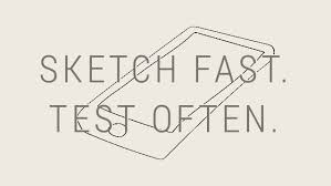 product design for ios sketch fast test often