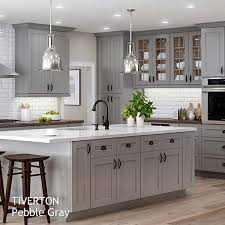 Gray And White Kitchen Cabinets Semi Custom Kitchen And Bath Cabinets By All Wood Cabinetry Ships
