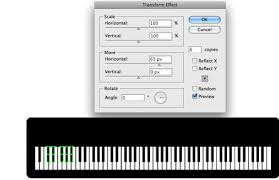 illustrator tutorial drawing a piano keyboard illustrator