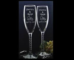 personalized glasses wedding custom engraved wedding wine glasses includes couples name and