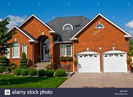 suburban house pickering ontario canada stock photo royalty free