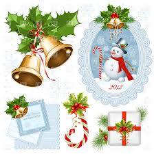 collection of christmas decorations vector image 5026 u2013 rfclipart