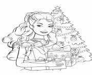 barbie princess christmas coloring pages printable