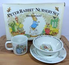 wedgwood rabbit nursery set rabbit nursery set wedgwood 3 china cup bowl plate