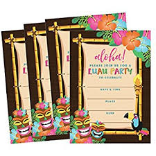luau invitations 12 message in a bottle luau tropical pool party