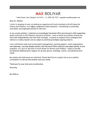 Sample Letter Of Intent Grant Proposal by Best Grants Administrative Assistant Cover Letter Examples