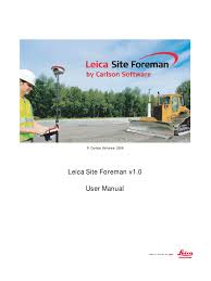 leica site foreman user manual license icon computing
