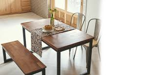 Industrial Kitchen Table Furniture Tinwood Scandi Industrial Merbau Dining Table 1400 Dining Tables