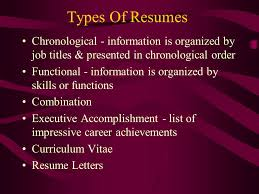 Resume Chronological Order The Right Resume Ppt Download