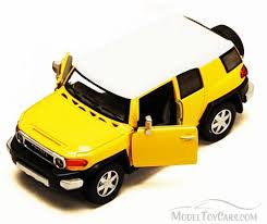 toyota box car fj cruiser suv yellow kinsmart 5343d 1 36 scale diecast model