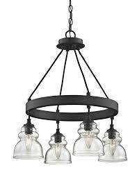 Black Mini Chandelier Laurel Foundry Modern Farmhouse Arla 4 Light Mini Chandelier