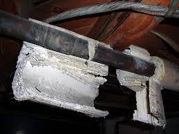 Asbestos In Basement by Damaged Asbestos Aircell Pipe Lagging Residential Basemen U2026 Flickr