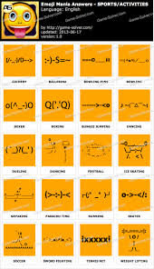 emoji mania sports activities answers game solver