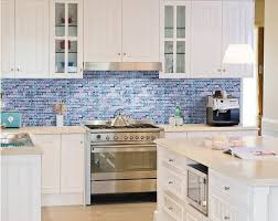 Blue Glass Tile Bathroom Blue Glass Mosaic Tile Mixed Grey Stone Mosaic For Kitchen