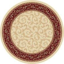 Round Traditional Rugs Bordered Round Traditional Persian Oriental Area Rugs Ebay
