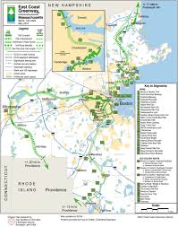Boston Harborwalk Map by East Coast Greenway In Massachusetts Bike New England