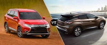mitsubishi sports car 2016 mitsubishi outlander vs 2016 nissan murano
