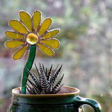 shop glass garden stakes on wanelo
